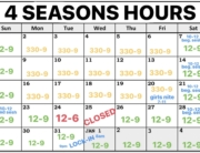 4 seasons christmas break hours